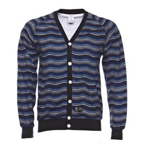 CROOKS & CASTLES WAVY KNIT CARDIGAN [1]