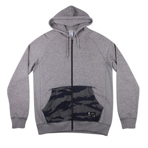 CROOKS & CASTLES Mens Knit Zip Hoodie - Tiger Denim [2]