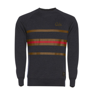 CROOKS & CASTLES Mens Knit Crew Sweatshirt - Crks Stripe [1]