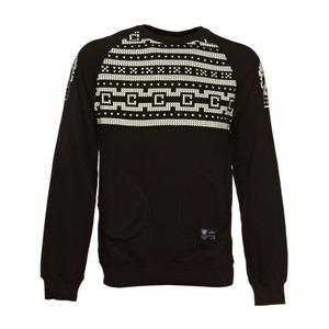 CROOKS & CASTLES Mens Knit L/S Crew Sweater - Lux Skull [1]