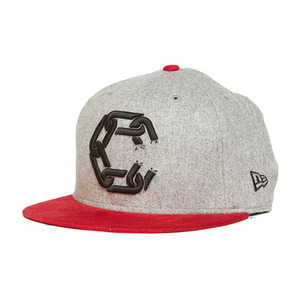 CROOKS & CASTLES Mens Woven Fitted Cap - New Chain [1]