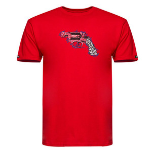 CROOKS & CASTLES Mens Knit Crew T-Shirt - Cheater Pistol [2]