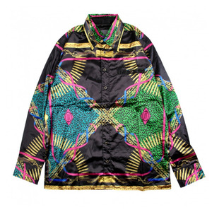 CROOKS & CASTLES Mens Woven Silky Shirt- Regalia Noir