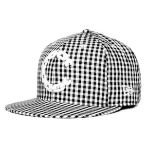 CROOKS & CASTLES Mens Woven Fitted Cap - Chain C Gingham