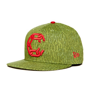 CROOKS & CASTLES Mens Woven Fitted Jungle Cap - New Chain C [1]