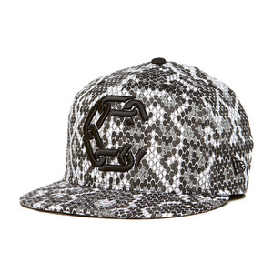CROOKS & CASTLES Mens Woven Fitted Jungle Cap - New Chain C [2]