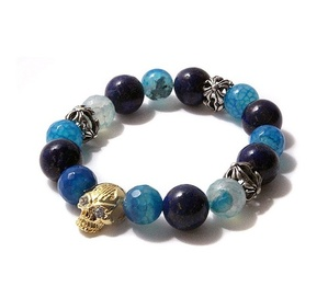 SAINT PAIN Bangle-Agate Blue 10mm