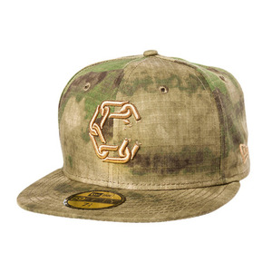 CROOKS & CASTLES Mens Woven Fitted Cap - New Chain C