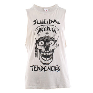 OBEY FLIP CAP SKULL LIGHTWEIGHT SLIM FIT TANK