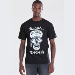 OBEY FLIP CAP SKULL REGULAR FIT TEE
