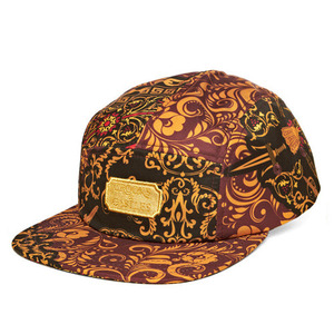CROOKS & CASTLES Mens Woven 5-Panel Cap - Sultan