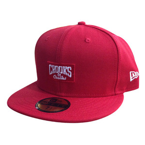 CROOKS & CASTLES Mens Woven Fitted Cap - Core Logo
