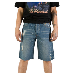 THE HUNDREDS CUTTY SLIM FIT SHORT DENIM
