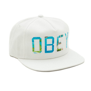 OBEY WHARF HAT WHITE