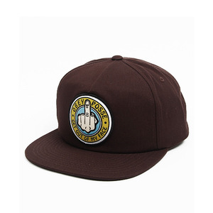 OBEY OUT HERE SNAPBACK BROWN