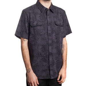 HUF SHELL SHOCK CAMO S/S WOVEN BLACK SHELL SHOCK