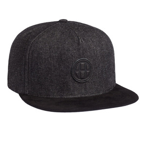 HUF DENIM LEATHER SNAPBACK BLACK DENIM