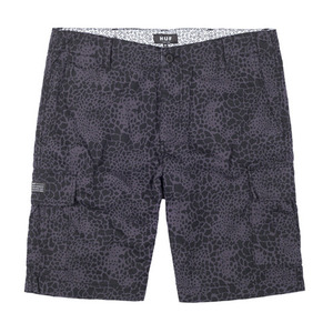 HUF DELANCEY CARGO SHORT BLACK SHELL SHOCK