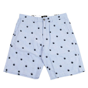 HUF PLANTLIFE EMBROIDERED SHORT BLUE OXFORD