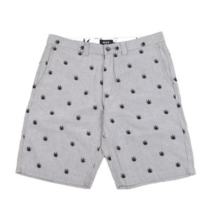 HUF PLANTLIFE EMBROIDERED SHORT GRAY OXFORD