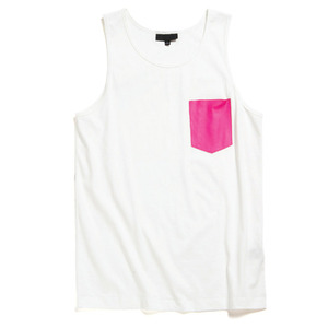 [50%sale특가]BLACK SCALE Vio Pocket Tank White