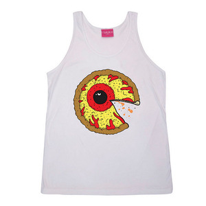 MISHKA Pizza Keep Watch Tank	White