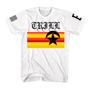 [55% Sale] [Special Project] BLACK SCALE X PIMP C TRILL JERSEY TEE WHT
