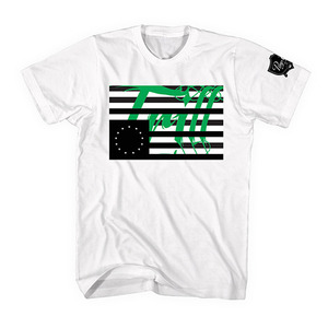 [55% Sale] [Special Project] BLACK SCALE X PIMP C TRILL FLAG TEE WHT