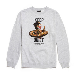 QUICK STRIKE]BLACK SCALE Crotalus Crewneck GREY