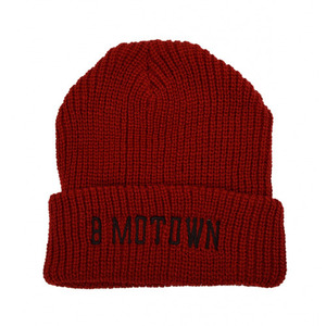 [LIMITED EDTION]BLACK SCALE Marvin Motown Beanie, Red