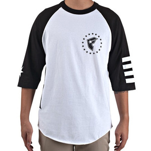FAMOUS White Out Raglan Tee