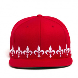 BLACK SCALE Fleur Snapback, Red/Wht