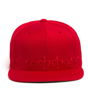 BLACK SCALE Fleur Snapback, Red/Red