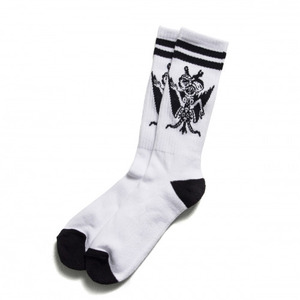 BLACK SCALE Son of Scale Socks, White