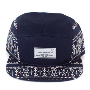 CROOKS & CASTLES Men's Woven 5 Panel Cap - Sovereign