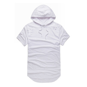 FNTY distress enlongated hoody
