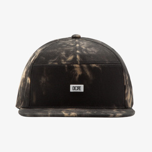 DOPE Bleached 7 Panel Black