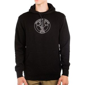 CROOKS & CASTLES Knit Hooded Pullover - Worldwide (Black)
