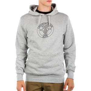 CROOKS & CASTLES Knit Hooded Pullover - Worldwide (Heather Grey)