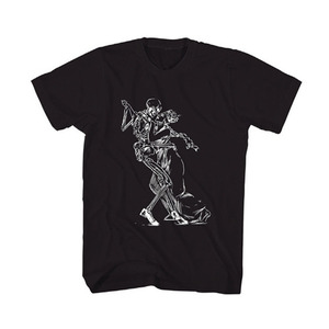 50%saleBLACK SCALE DANCE WITH THE DEVIL GRAPHIC T-SHIRT (BLACK)