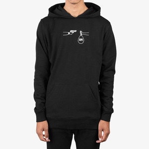 DOPE Stick Up Pullover BLACK