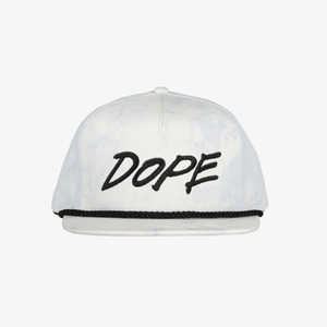 DOPE Tagged Snapback MINERAL WASHED ICE BLUE