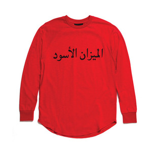 BLACK SCALE AIKENS L/S T-SHIRT RED