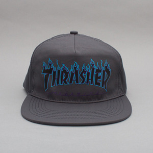 THRASHER FLAME SNAPBACK (GREY)