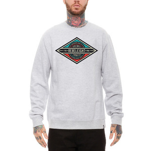 REBEL 8 DOMINEIGHT CREWNECK (HEATHER GREY)