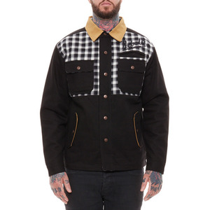 REBEL 8 PLAID BOLTED JACKET (GREY/BLACK)