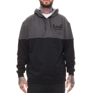 REBEL 8 BOLTED 5-PANEL HOODIE (GREY/BLACK)