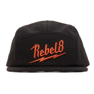 REBEL 8 BOLTED SNAPBACK (BLACK)