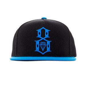 REBEL 8 SPRING LOGO BLACK SNAPBACK