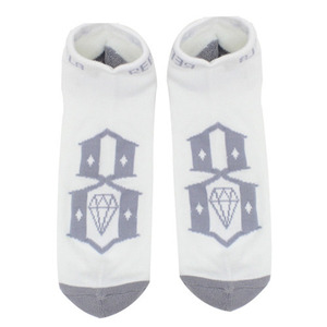 REBEL 8 LOGO ANKLE WHT